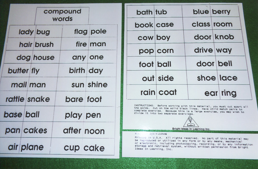 Compound words bright ideas in learning compound words publicscrutiny Choice Image