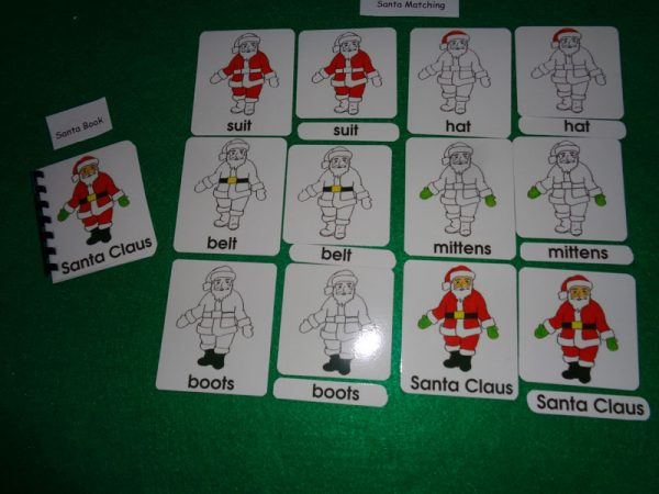 Santa 3 Part Matching with book shown
