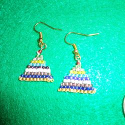 Montessori Bead Stair Earrings