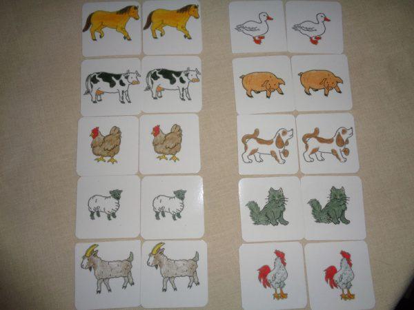 Simple Matching Farm Animals