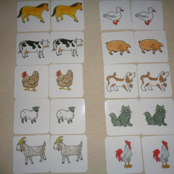 Simple Matching Farm Animals